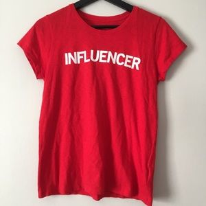 Express Graphic Tee Shirt Influencer size small